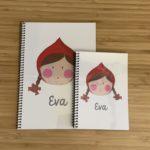 Cuaderno de la Caperucita Roja con tu nombre