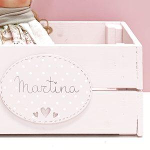 Detalle Caja Madera Rosa