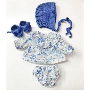 Ropa Pepita Flores Azul