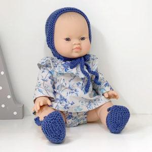 Muñeca Pepita Flores Azul