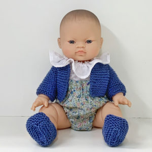 Muñeca Pepita Flores con Chaqueta azul