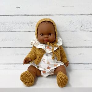 Muñeca personalizada Pepita Estampado Hojas Mostaza